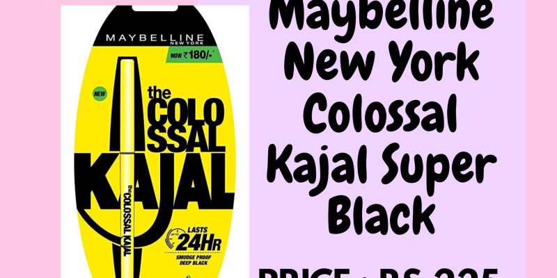 Maybelline New York smudgeproof kajal best kajal for waterline waterproof kajal best kajal for watery eyes_derje