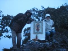 Silja und ich auf dem Gipfel