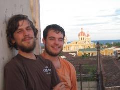 Torben und ich auf dem Merced-Turm