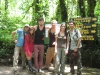 Die NuestraKasa-Crew am Eingang des Nationalparks