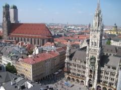 Blick aufs Neue Rathaus München