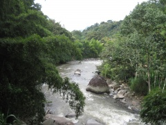 Fluss bei Andes