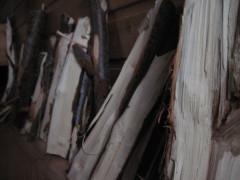 Gehacktes Holz