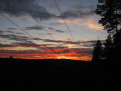 Belohnender Sonnenuntergang