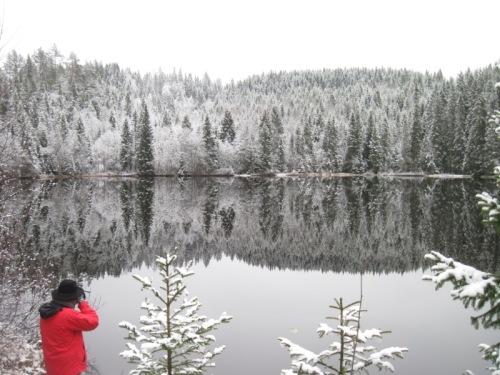 Erdwind fotografiert Schneewunder