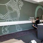 Wandgestaltung Im Buro Der Kunstwerker