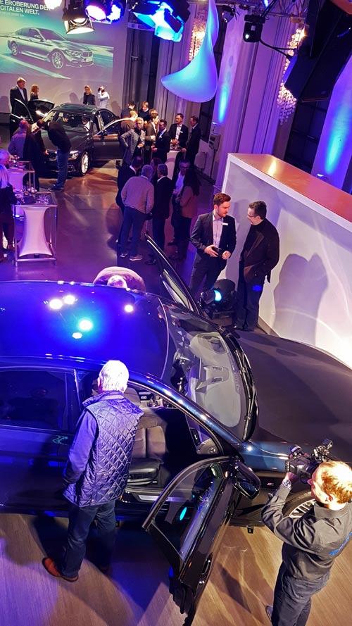 Lemmi Lichtshow BMW 5er Präsentation