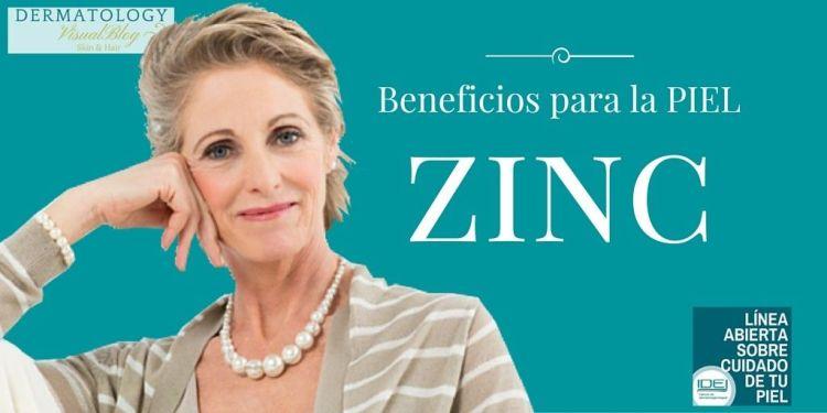 zinc- sus beneficios para la piel