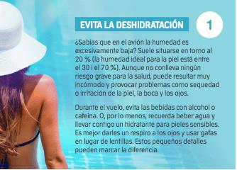 evita la deshidratación de la piel en verano