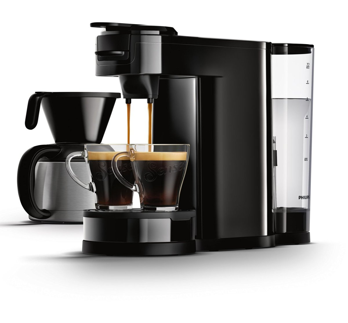 Senseo HD7892/60 Switch 2-in-1 Kaffeemaschine für Filter und Pads