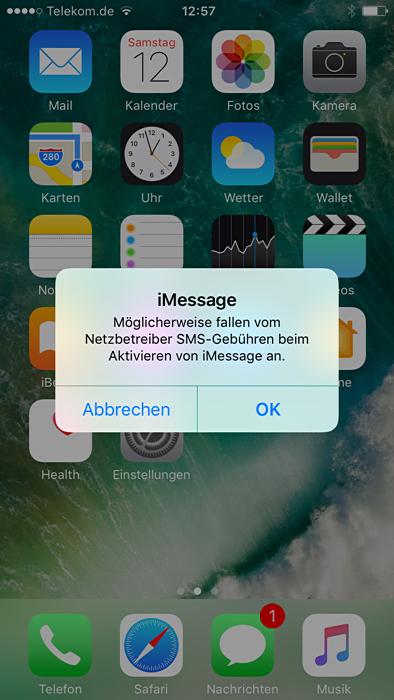 SMS an die ... verursacht Kosten trotz Flat