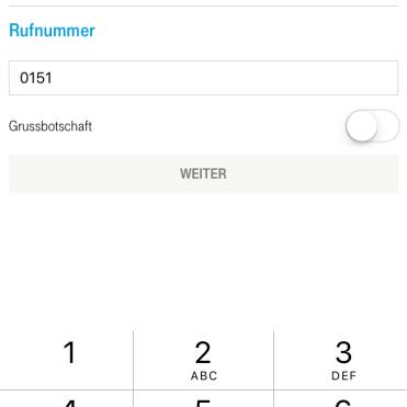Handynummer angeben die aufgeladen werden soll