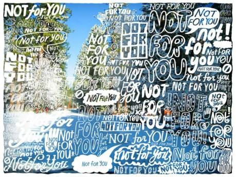 bubble typography, doodles