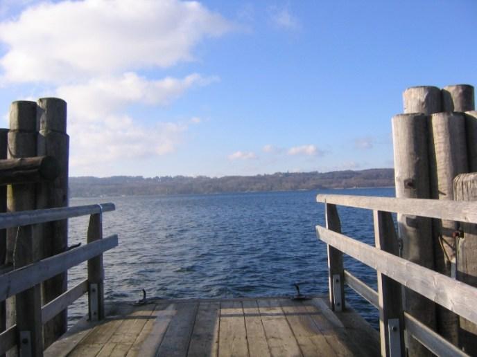 Starnberger See Blick vom Steg in Ammerland