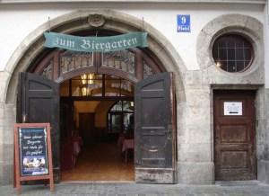 Hofbräuhaus Biergartenzugang