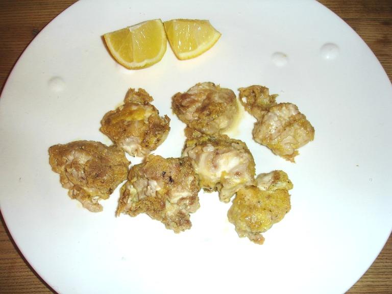 Krustierte Kalbshirn-Würfel italienisch