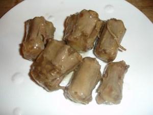 Ochsenschwanz gekocht und über Nacht geliert