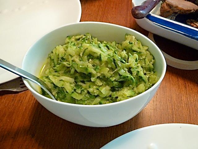 geriebene Zucchini