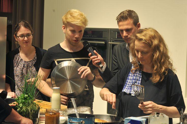 Der Grund meiner Berlinreise: das AEG Foodblogger-Duell gegen Stefan Marquard auf der IFA 2014
