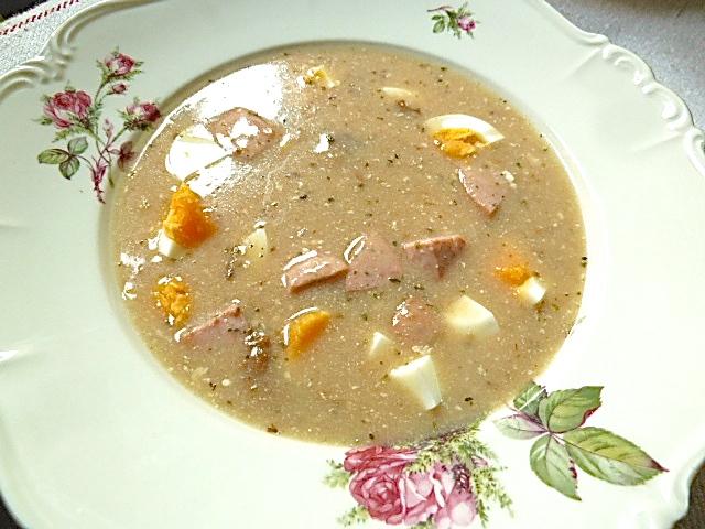 und mit Suppe übergießen