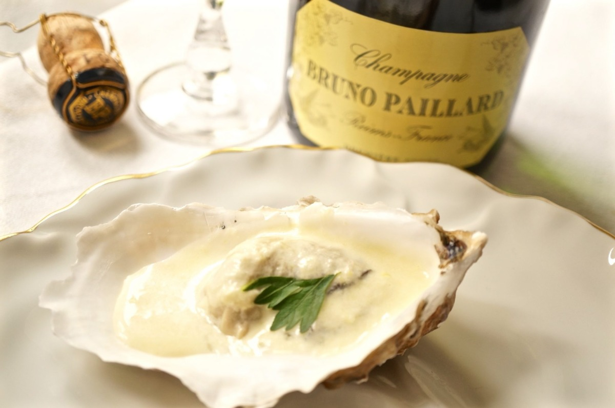 Crème d'huîtres au Champagne für Bruno Paillard
