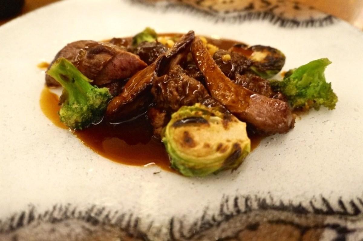 meine Freunde bestellten ohne Innereien: Fleisch mit Gemüse