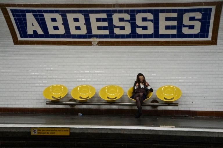 etwas weiter hoch den Montmartre zur Metro Abbesses