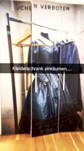 mein Snapchatfoto vom Kleiderschrank