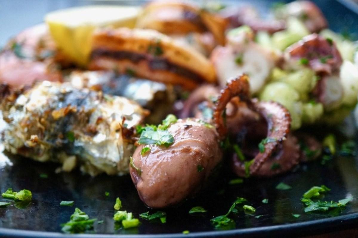 gemischte Fische , mein abschließendes Abendessen