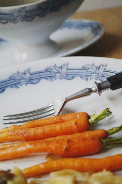 als Beilage Vichy Karotten