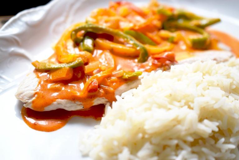 Ein Paprikaschnitzel für das ICE Bordrestaurant