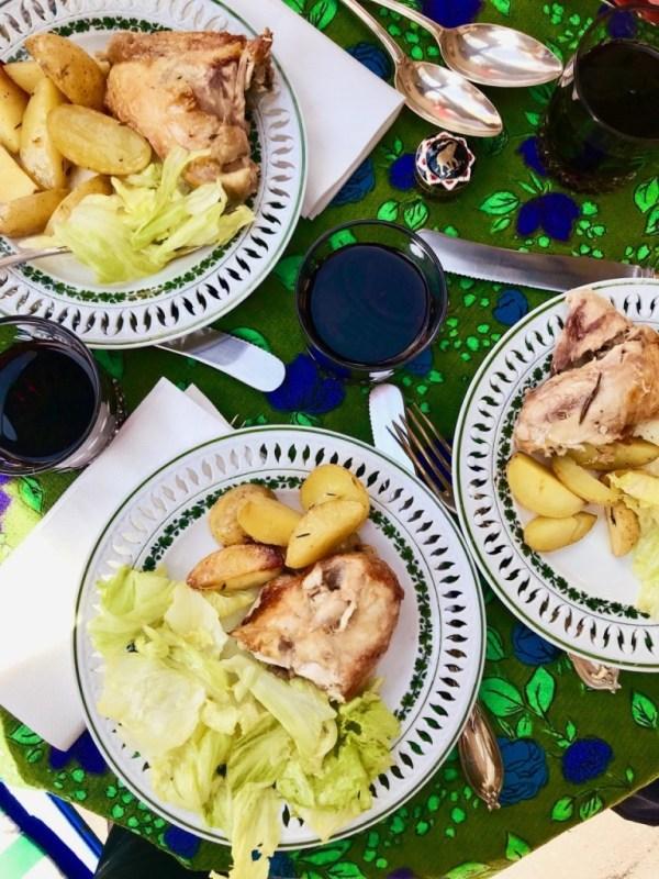 Hühnchen mit Salat