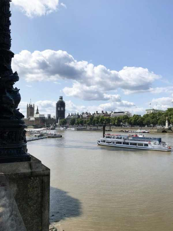London am Themse Ufer