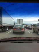We made our way through Virginia and into North Carolina. Near Greensboro, traffic came to a standstill.
