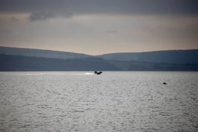 Boat passing Isle of Wight 1