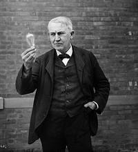 Edison & his light bulb.
