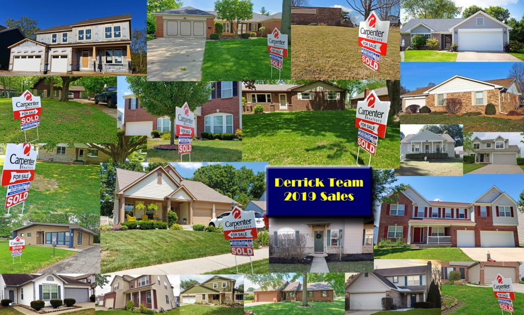Derrick Team ~ Central Indiana Homes Sold in 2019