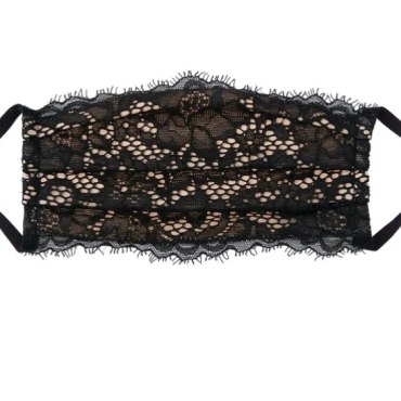 pleated face mask cosabella pret a porter black lace