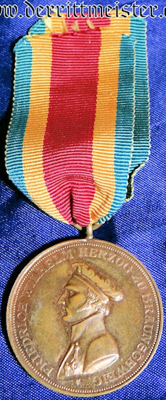 BRAUNSCHWEIG - 100TH YEAR ANNIVERSARY (1809-1909) PENINSULA CAMPAIGN MEDAL - INFANTERIE-REGIMENT Nr 92 - - Imperial German Military Antiques Sale