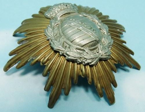 WAPPEN - SAXONY - ENLISTED MAN - FOR PICKELHAUBE OR KUGELHELM - LINE INFANTERIE OR LINE ARTILLERIE REGIMENT - Imperial German Military Antiques Sale