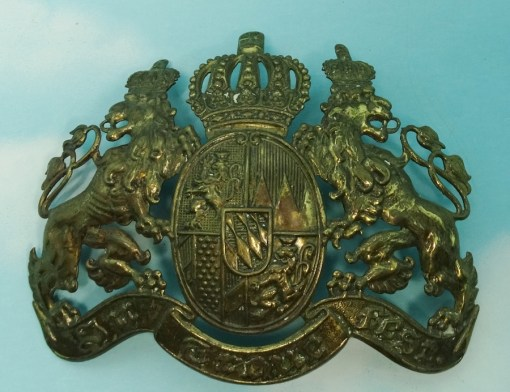 WAPPEN - BAVARIA - FOR PICKELHAUBE - OFFICER - Imperial German Military Antiques Sale