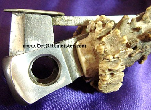 TWO-POINT STAG HORN CIGAR CUTTER - Imperial German Military Antiques Sale