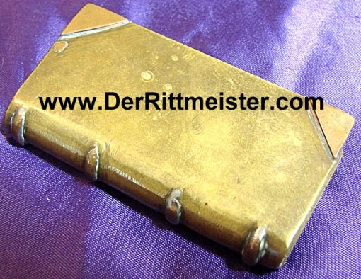 GERMANY - LIGHTER - TRENCH ART - BRASS - BOOK-SHAPED - Imperial German Military Antiques Sale