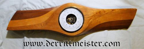 LARGE AIRPLANE PROPELLER SECTION EMBEDDED WITH WEATHER STATION - Imperial German Military Antiques Sale