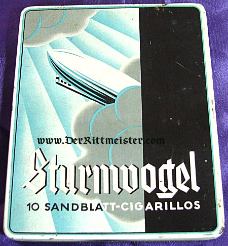 GERMANY - CIGARILLO TIN BOX - ZEPPELIN THEME - Imperial German Military Antiques Sale