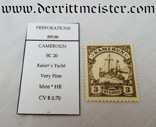 CAMEROON COLONIAL - STAMP - Imperial German Military Antiques Sale