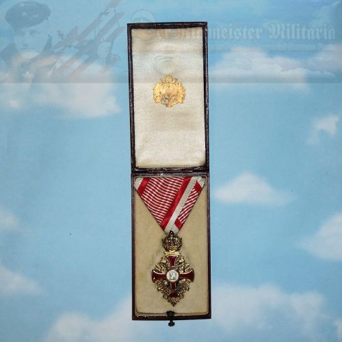 AUSTRIA - KNIGHT'S CROSS - FRANZ JOSEF ORDER - ORIGINAL PRESENTATION CASE