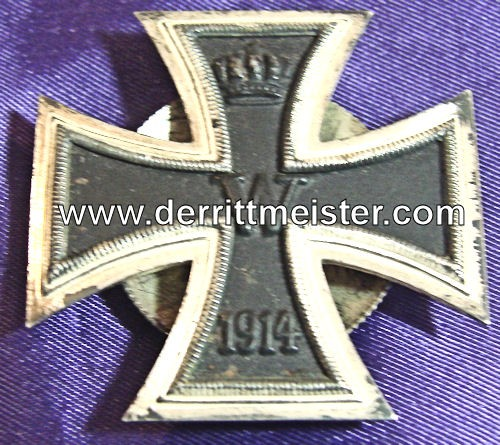 IRON CROSS - 1914 - 1st CLASS - THREE-PIECE SCREWBACK - Imperial German Military Antiques Sale