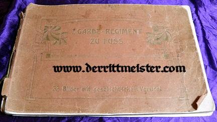 ALBUM - THIRTY-THREE PHOTOGRAPHS - DIAGRAMS - 1. GARDE-REGIMENT zu FUß - PRUSSIA - Imperial German Military Antiques Sale