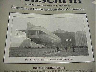 GERMANY - MAGAZINE - DEUTSCHE LUFTFAHRER ZEITSCHRIFT - Imperial German Military Antiques Sale